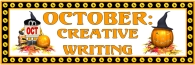 Halloween October Creative Writing Bulletin Board Display Banner
