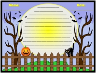 Halloween One Spooky Night Printable Worksheets for Language Arts