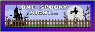 Halloween One Spooky Night Bulletin Board Display Banner