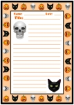 Halloween Spooky Character Stories Printable Worksheets for Language Arts