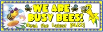 Spring Busy Bees Writing Bulletin Board Display Banner
