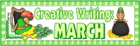 St. Patrick's Day Creative Writing Bulletin Board Display Banner