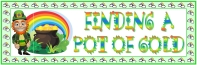 St. Patrick's Day Leprechaun Pot of Gold Bulletin Board Display Banner