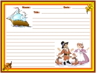 Thanksgiving Mayflower Stories Printable Worksheets for Language Arts