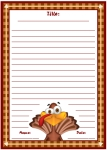 Thanksgiving Turkey Stories Printable Worksheets for Language Arts
