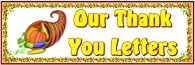 Thanksgiving Thank You Letters Bulletin Board Display Banner