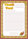 Thanksgiving Thank You Letters Printable Worksheets for Language Arts