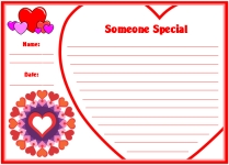 Valentine's Day Someone Special Printable Worksheets for Language Arts