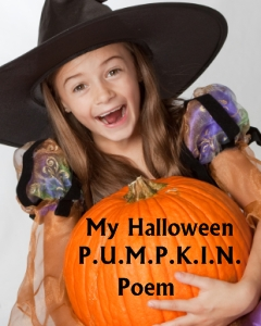 Halloween Poetry and Poem Pumpkin Templates