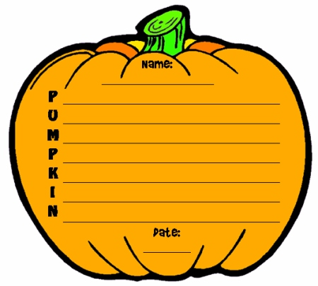 Halloween Pumpkin Acrostic Poem Writing Templates