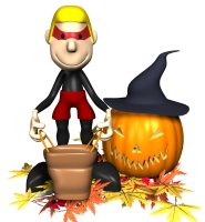 Pumpkin and Boy Graphic