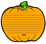 Pumpkin Halloween Printable Worksheet