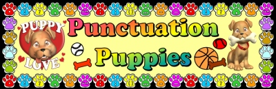 Puppy Punctuation Marks Bulletin Board Display
