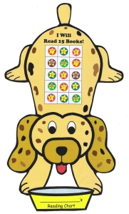 Reading Sticker Charts for Books Dog Theme