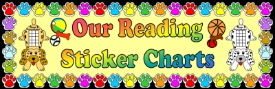 Puppy Reading Sticker Charts Elementary Bulletin Board Display