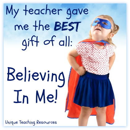 Quotes About Kids - My Teacher Believes in Me