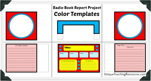 Examples of templates for fun reading book report projects.