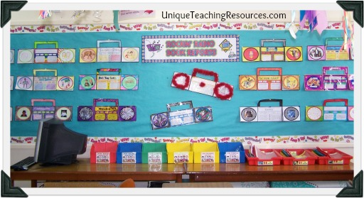 Radio Book Report Projects Classroom Bulletin Board Display Example