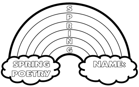 Spring Acrostic Poem: S.P.R.I.N.G. Acrostic Poem In Rainbow Shaped