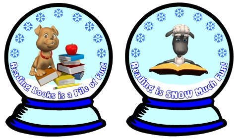 Winter and Christmas Reading Bulletin Board Display Classroom Examples for Teachers