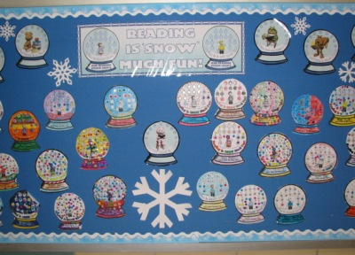 Reading Sticker Charts Winter Bulletin Board Display
