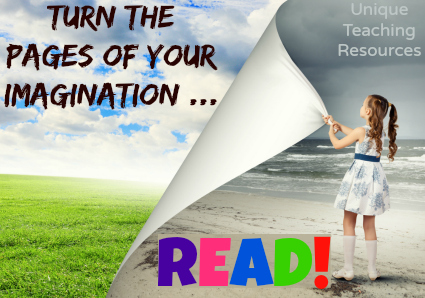 Quotes about reading - Turn the pages of your imagination.  Read.