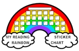 Free Reading Rainbow Sticker Chart Templates