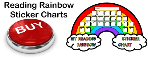 Reading Rainbow Sticker Charts For Elementary School Students