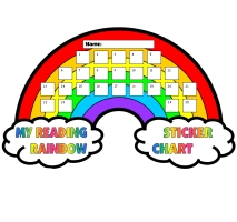 Reading Rainbow Sticker Chart Template