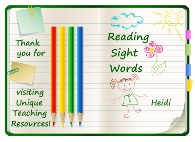 Download free reading sight words, flashcards, and lists on Unique Teaching Resources.