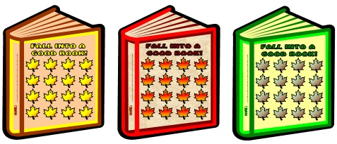 Reading Sticker and Incentive Chart Templates for Fall and Autumn
