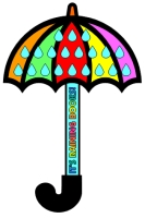 Umbrella Shaped Reading Sticker Chart Template