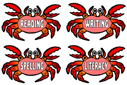 Free Reading, Writing, Spelling, and Literacy School Subjects Bulletin Board Display Set