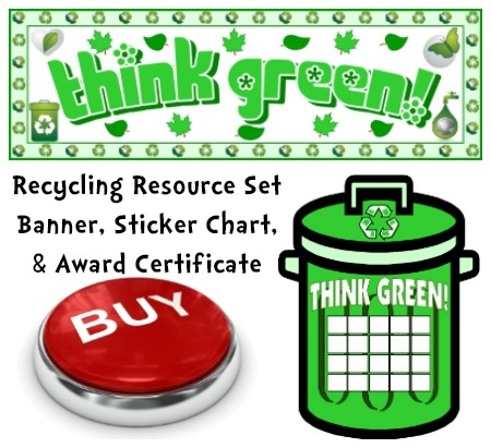 Recycling Lesson Plans Set Think Green
