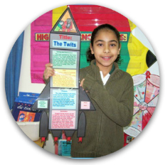 Blast Off With Reading!  Example of Rocket Book Report Project