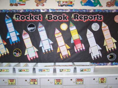 Rocket Shape Space Theme Book Report Projects and Templates