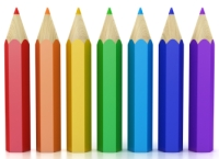 Row of Color Pencils School Supplies