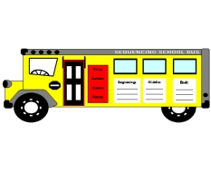 school bus book report templates