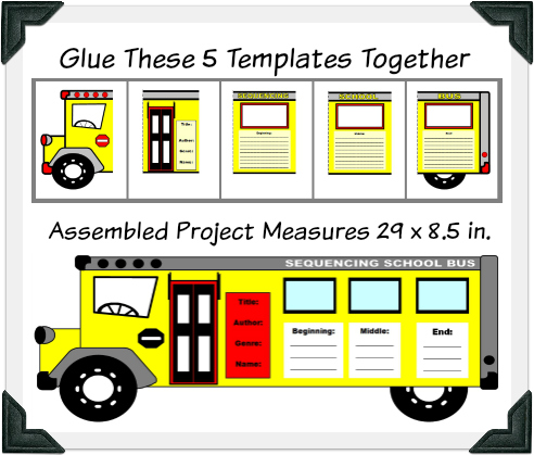 School Bus Book Report Project Templates
