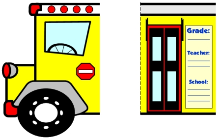 Fun School Bus Shaped Writing Templates for Back to School Activity for Elementary Students
