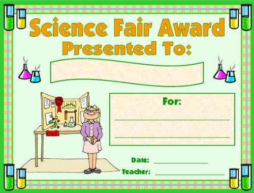 science fair certificate templates Success