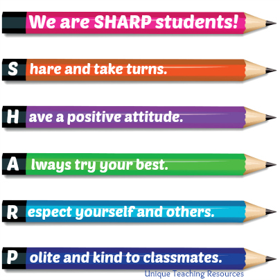 Classroom Rules Acronym Poster Idea SHARP Students