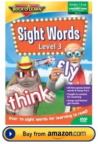 Sight Words Rock and Learn DVD Level 3