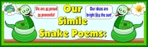 Writing Similes Bulletin Board Display Banner