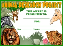 Student Award Animal Research Project