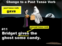 Halloween Present and Past Tense Verbs Grammar Powerpoint Lesson Plans
