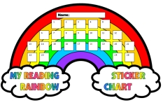 Reading Rainbow Sticker Chart Templates