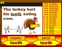 Thanksgiving Grammar Singular and Plural Words Powerpoint Lesson Plan