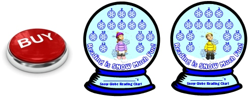 Winter Snow Globe Reading Sticker Charts for Girl and Boy Students