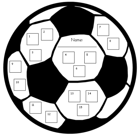 Soccer Sports theme Sticker Charts Templates and Incentive Charts for Elementary Students